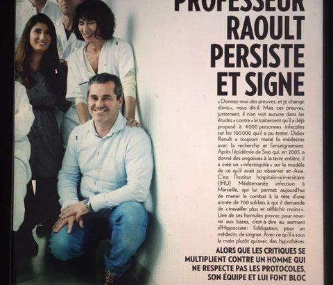 Interview du Pr Raoult sur le Covid 19